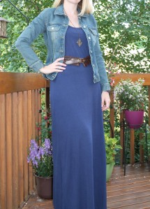 navy maxi for pear shaped women