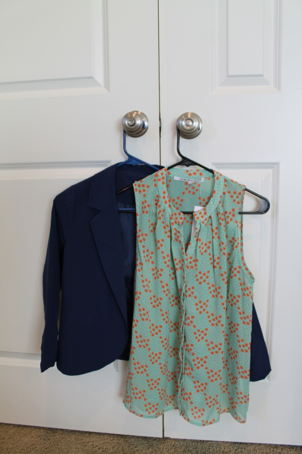 Cherish Blazer and Collective Poppy Print Tank