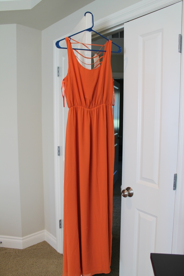 Lost April Grid Maxi Dress