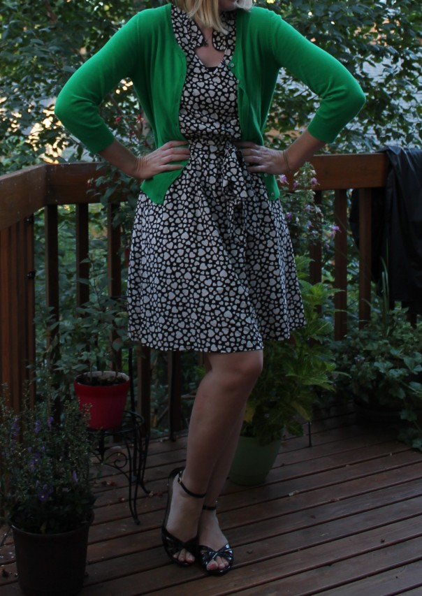 Heart shaped polka dot dress