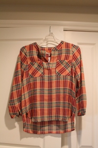 Plaid top - stitch fix