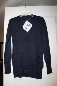 Navy wool blend cardigan