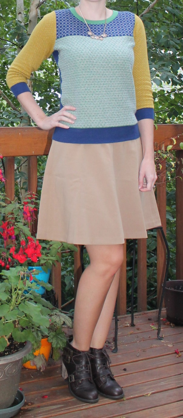 Boden Sweater and Loft Skirt