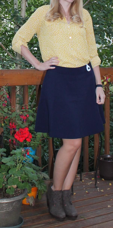 Loft Scuba Flare Skirt