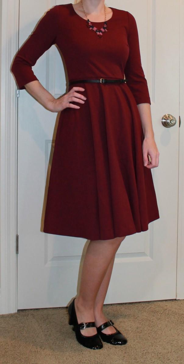 Boden Ponte Skater Dress