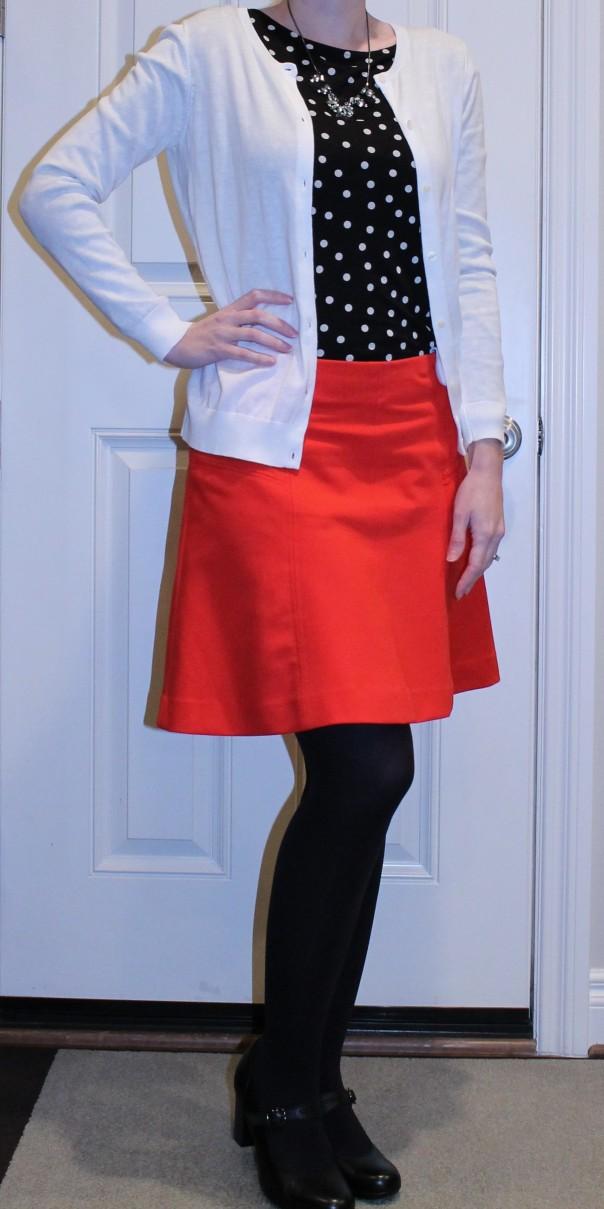 loft red skirt