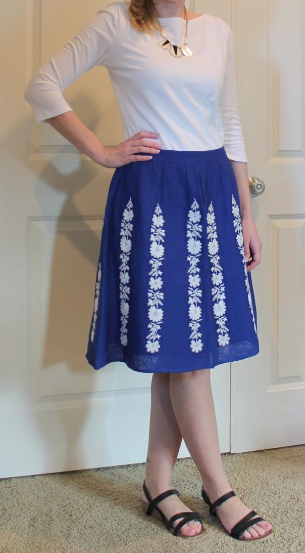 boden summer bloom skirt